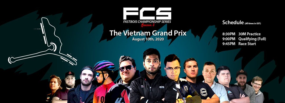 Good morning or afternoon, @Twitter!  Tonight is the 3rd race of the season for the #FCSLeague and it's taking place at Hanoi Street Circuit in Vietnam!  https://t.co/vpzH4IgP97  #F1 #F12020 #F12020game #F1Esports #FCS #Fanatec #LogitechG #Esports https://t.co/mgJ40LHixJ