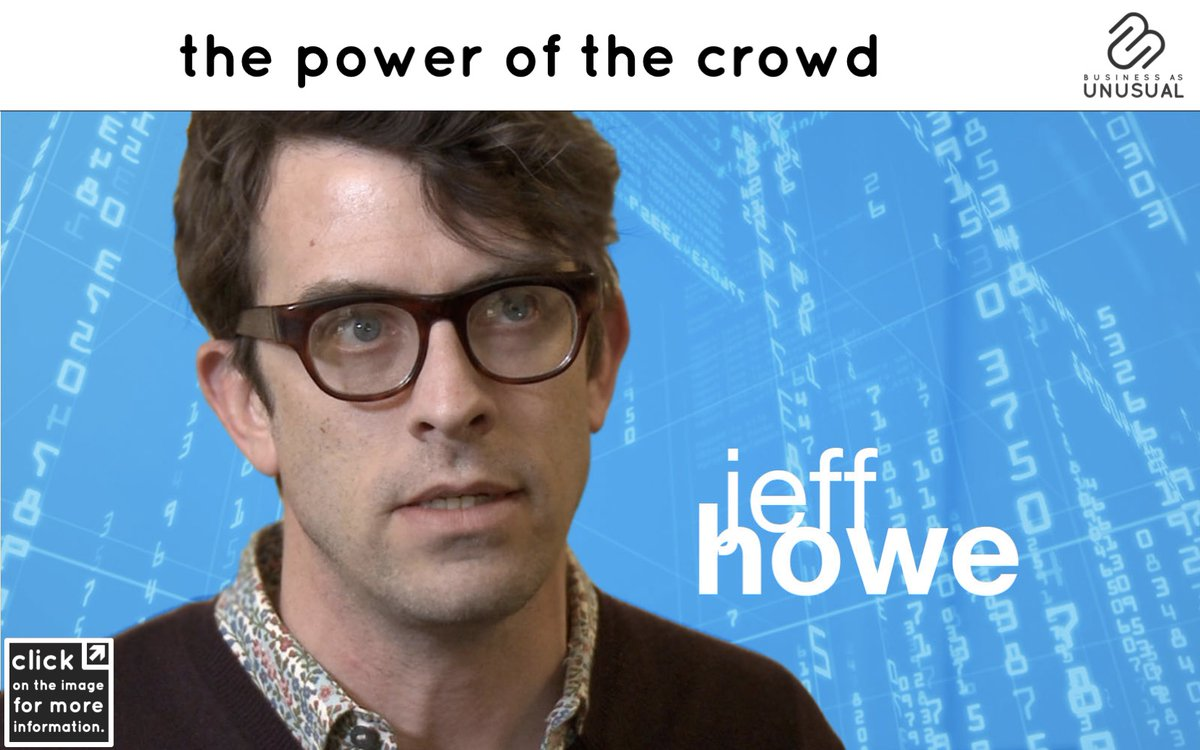"""#BEHAVIORALTRENDS #THEPOWEROFTHECROWD #JeffHowe coined the term #crowdsourcing in 2005, his definition was included for the first time in the 2006 #Wired article """"The Rise of Crowdsourcing"""". More #insights -> https://unusual.business/project/trend-the-power-of-the-crowd/…  #CommonPurpose #Networking #Crowdfundingpic.twitter.com/NXhRljcEI1"""