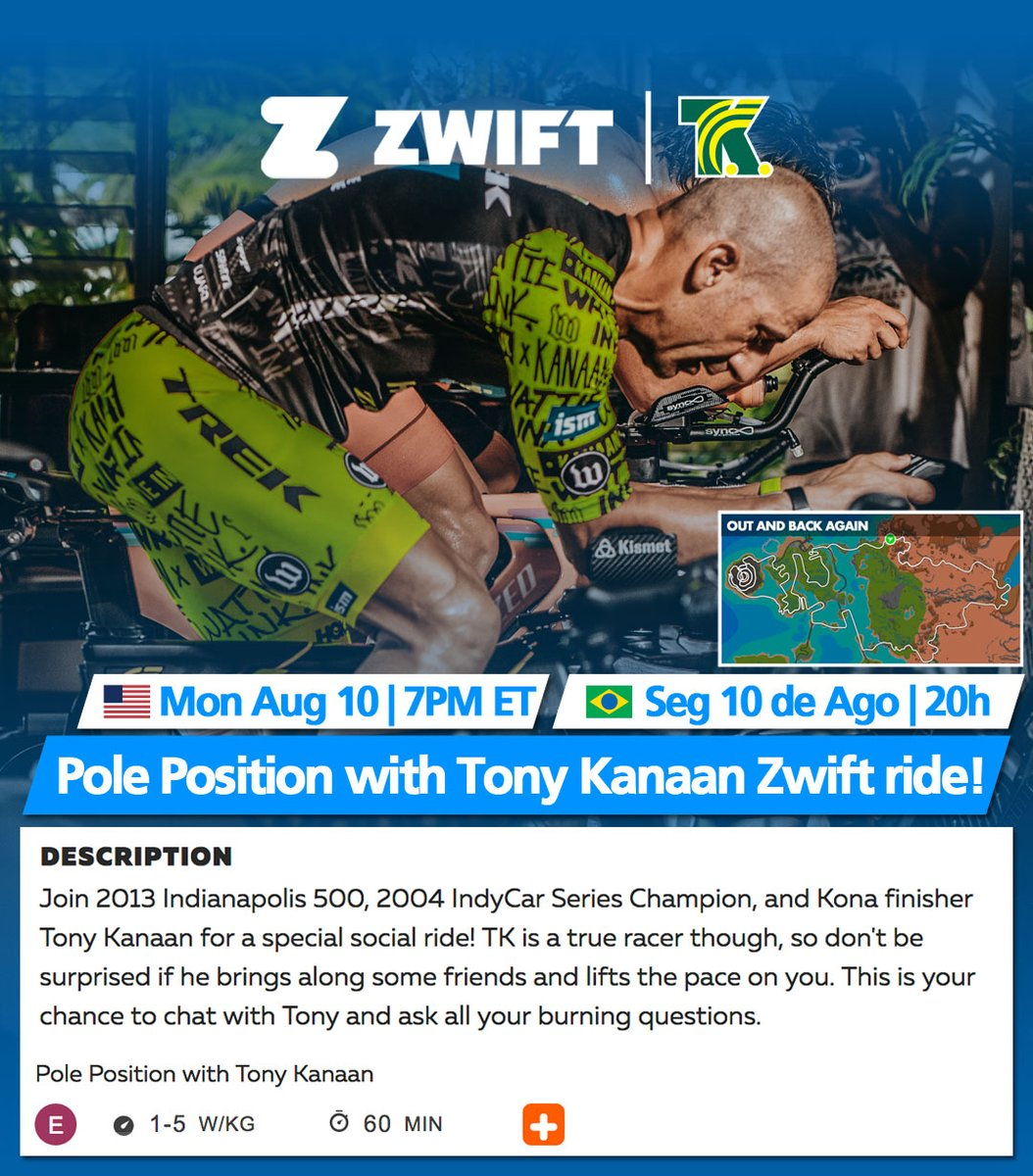 test Twitter Media - 🇺🇸 Join us tonight at 7p ET for my weekly @GoZwift @GoZwiftTri ride. Look the ride up on the Companion app or 👉🏻 https://t.co/zvnUXyJ0nW #GoZwift. Let's ride! https://t.co/R2sSDrJ8t3