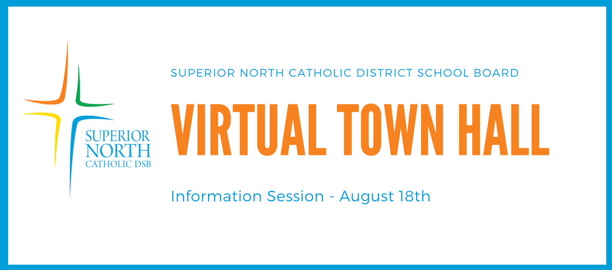 SAVE THE DATE! On Aug 18th, #SNCDSB will be hosting a virtual Town Hall to allow for our families to ask questions and to explore the enhancements that are being made for school startup. More info will be coming soon! https://t.co/BIYC1yjy7A
