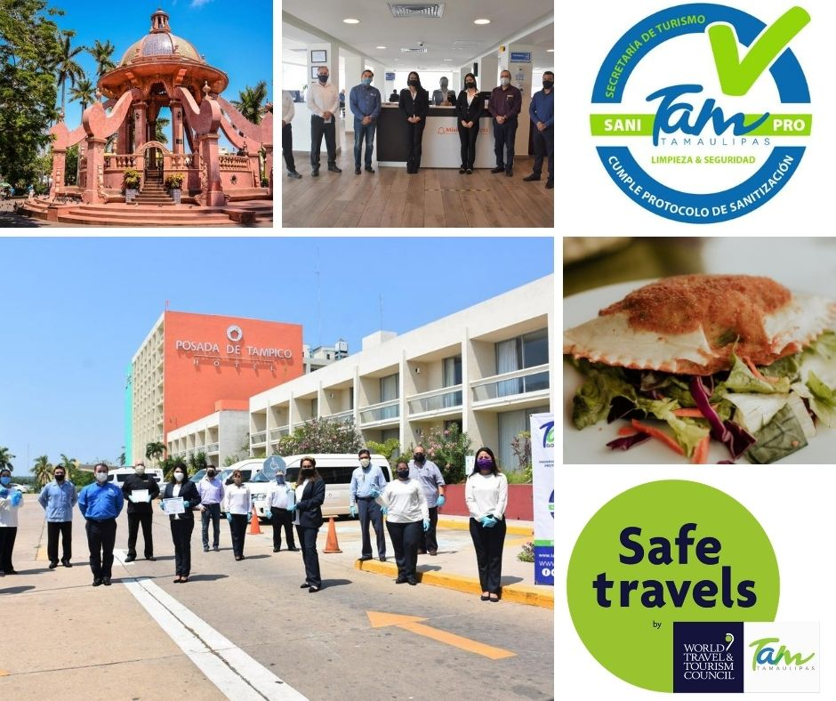 #Tamaulipas, destino reconocido como #SafeTravels por la  @WTTC garantiza al visitante que las empresas turísticas realizan protocolos internacionales de sanitización.   #LaSorpresaDeMéxico #FelizSábado  @ferolivera09 @VisitTamaulipas https://t.co/ZBmws2ZFW6