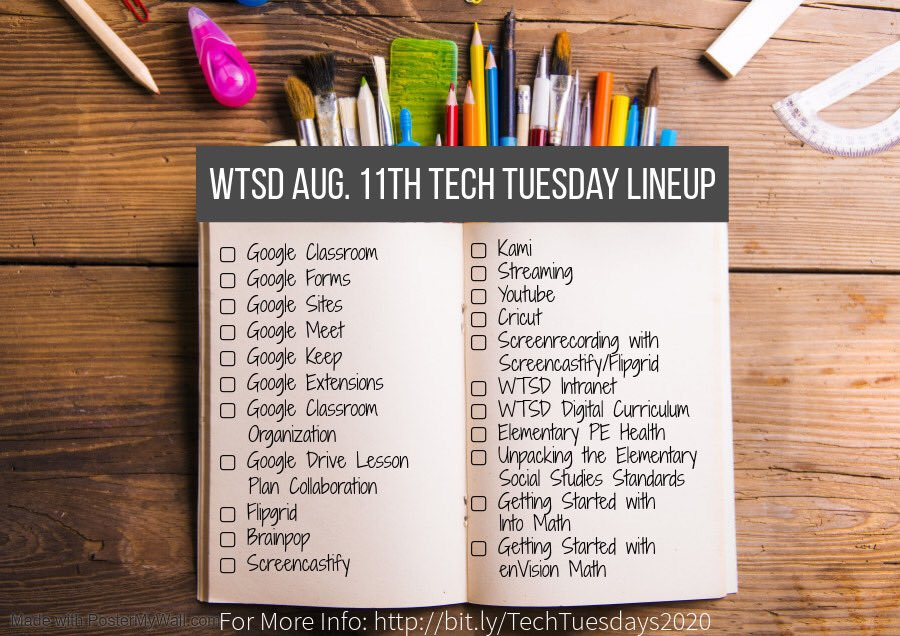 Another free PD #TechTuesday for my @WdbgSchools colleagues coming up tomorrow. We can help grow your tech knowledge and answer your questions best because we're in this with you! #1WTSD @ZegaRobert http://sites.google.com/WTSDNJ.com/2019summertexhacademy/home …pic.twitter.com/6bBdwGIYWT