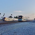 Image for the Tweet beginning: Side by side. #OurMetrolink  📸: Bruce