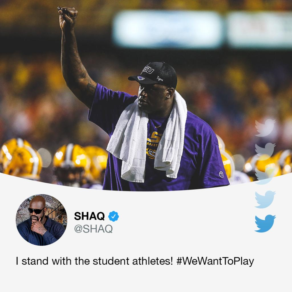 Shaq is backing student athletes who want to play fall sports. https://t.co/OprwADkhpT