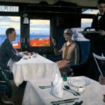 "Image for the Tweet beginning: ""Restaurant Car"". Leonard Campbell Taylor."
