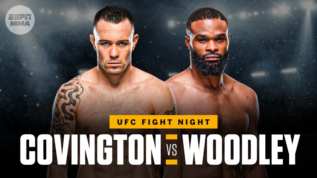 Verbal agreements are in place for Colby Covington to fight Tyron Woodley in September, per @arielhelwani.  A date has yet to be finalized. https://t.co/9DQznGweN3
