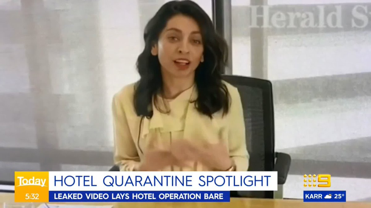 A leaked video has exposed the inner workings of Victoria's embattled hotel quarantine. @ChristineAhern #9News https://t.co/OAtlr9tkKc