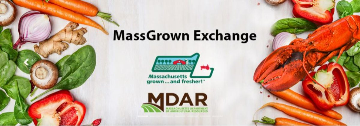 Today, @MassDeptAgr announced the launch of @MassGrown Exchange, a new online platform designed to facilitate stronger connections within Massachusetts' local food system.  🔗 Details: https://t.co/6MFUhl0H1j  🥦 MassGrown Exchange: https://t.co/kct61N3ugW https://t.co/khu87TEd8v