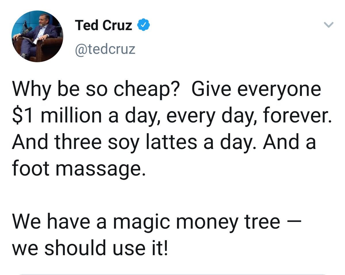 "And Here is ""Pro Life"" Cruz  mocking the concept of a welfare system for the immunocompromised, along with other high risk groups, during a pandemic.   #TedCruz #COVID19 #Covidiots #Pandumbic #GOP #Christianity #Prochoice #Roe48"