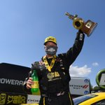 Image for the Tweet beginning: The winner in the NHRA