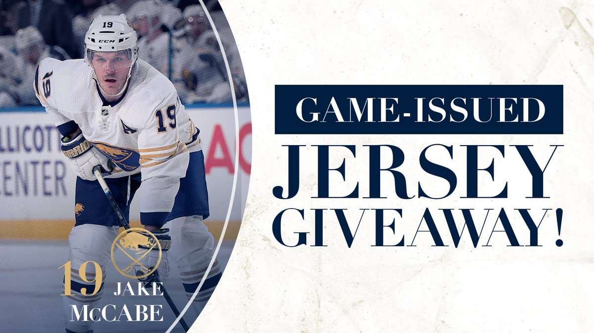 Retweet for your chance to win a Jake McCabe jersey! Rules: bufsabres.co/RULES