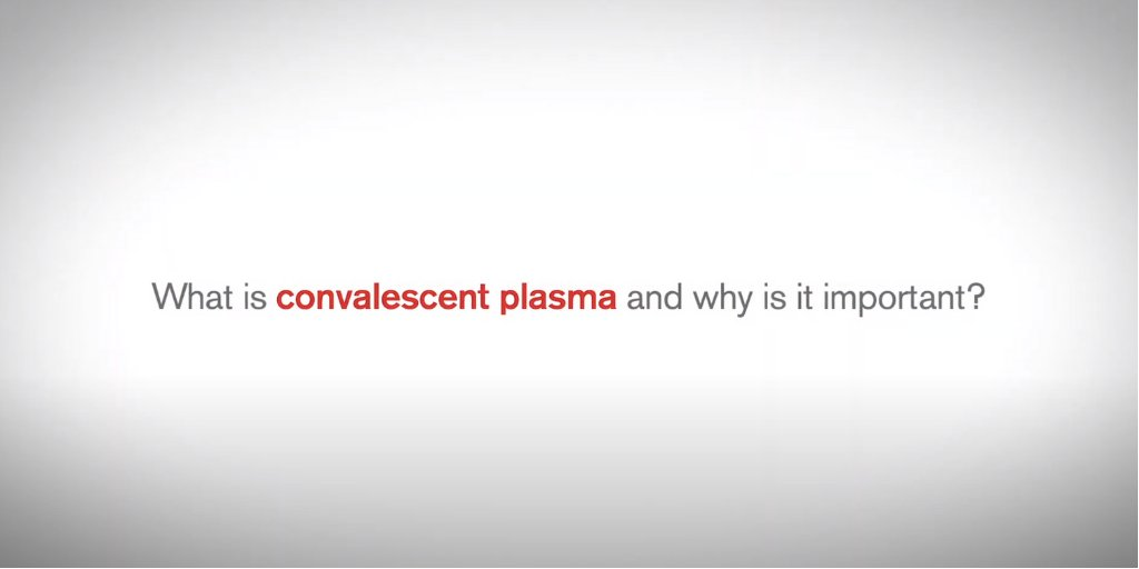 CONVALESCENT PLASMA: What is it and why is so important for seriously ill COVID-19 patients? Dr. Erin Goodhue, our Executive Medical Director of Patient Services, explains it in this video: https://bddy.me/33L7b7Dpic.twitter.com/94TcOGt0AA