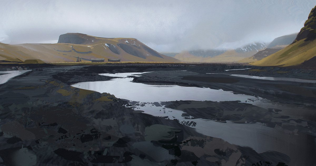 Been a bit quiet on the personal work side of things lately, but here's a quick study I did as a demo for class I've started teaching recently at CDW. Based on photos I took in Iceland years ago.  #iceland #glacier #river #art #illustration #digitalart #digitalpainting https://t.co/oP1e82Va4w