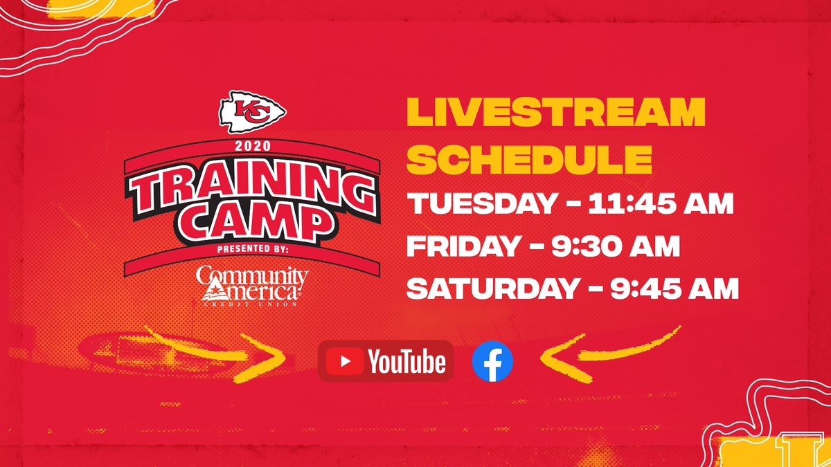 Join us this week on Training Camp Live! https://t.co/GzSjNsl6ky