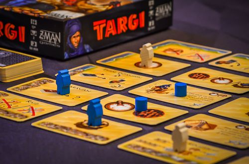 Managed to get our first game of Targi in. Absolutely loving this as a 2 player game.  #bgg #bggcommunity #boardgamegeek #boardgameday #boardgaming #boardgames #boardgamer #boardgamelovers #boardgamelove #tabletopgames #tabletopgamer #tabletopgaming #tabletop #tabletopgamepic.twitter.com/pqCGVe5rKz