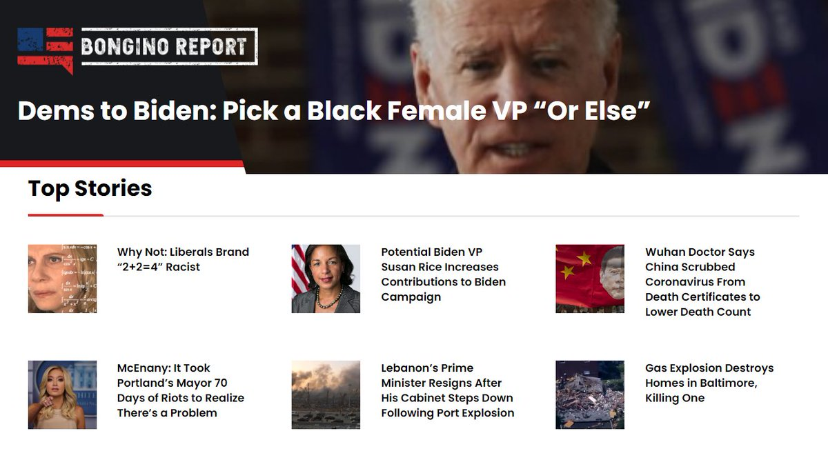 Our top stories this evening BonginoReport.com