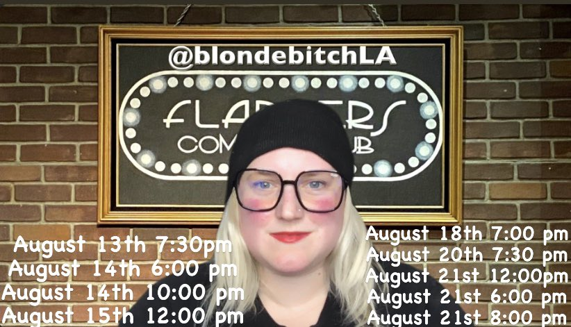 So excited to be performing at the @burbankcomfest @flapperscomedy   I'm hosting and performing at multiple shows check out my website for tickets!   https://www.amandamichellefoschia.com/shows  #covedy #standup #host #womenincomedy #comedian #actress #actor #blondebitch #flappers #cheers2thatpic.twitter.com/xBDGGCBMhk