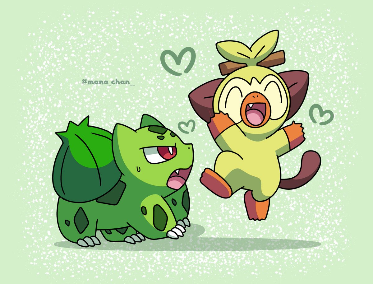 On Twitter Shiny Bulbasaur Vs Shiny Grookey Who Will Win The stick that grookey carries was originally a branch from a forest. shiny bulbasaur vs shiny grookey