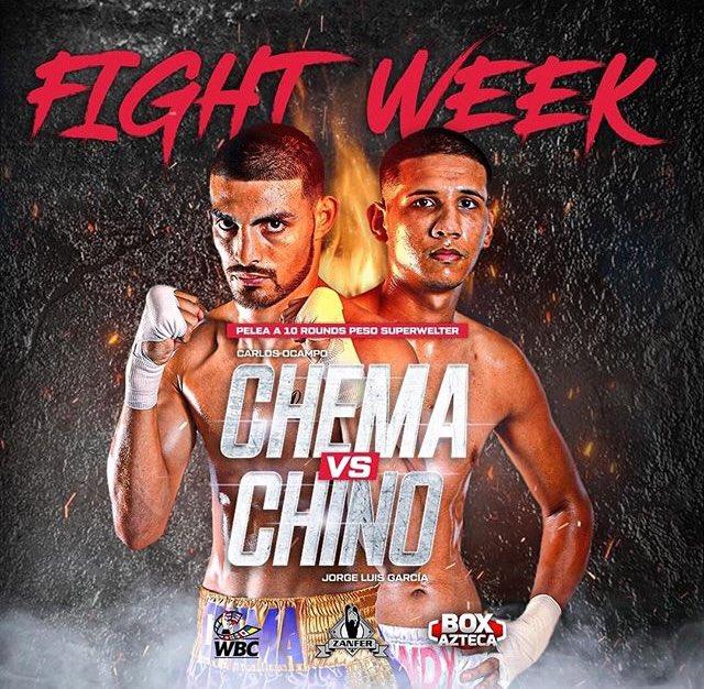 "Ocampo contra ""Chino"" García https://t.co/AjK7rECIFA @ZanferBox @BoxAzteca7 @Azteca @WBCBoxing #Agencia2punto8 #chemaocampo #chinogarcia #boxazteca #tvazteca #WBC #CMB #box #boxeo #boxing https://t.co/EEsJRdnDAH"
