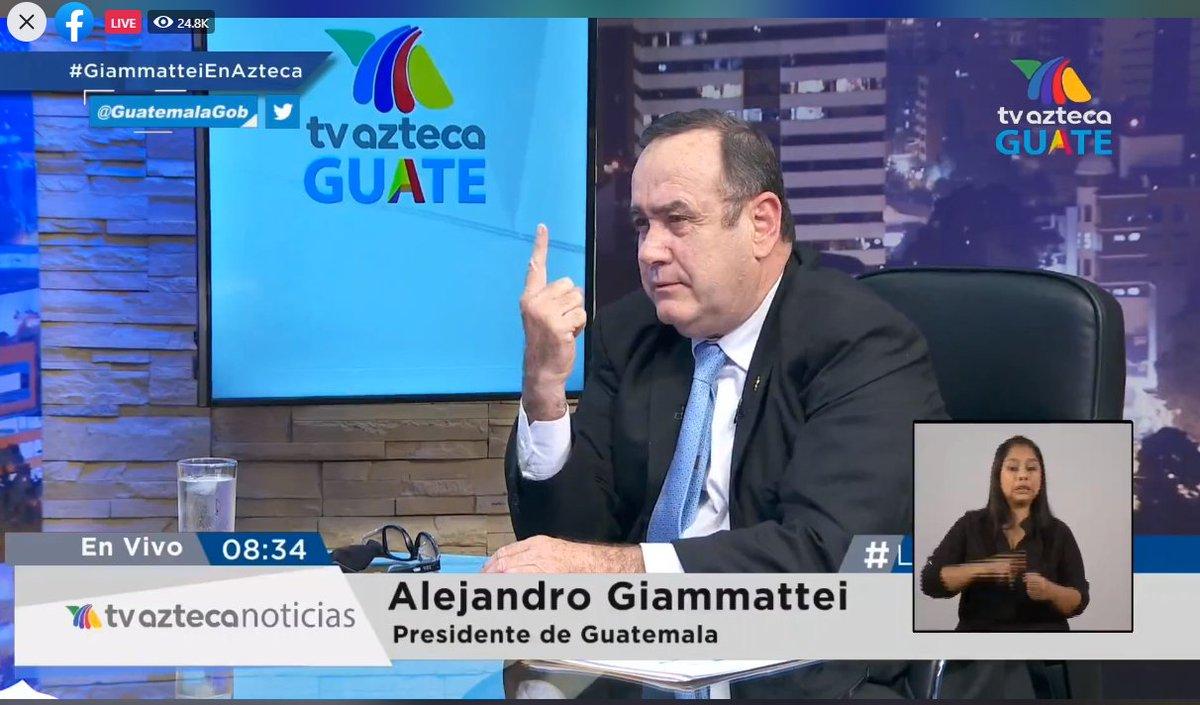 """test Twitter Media - Giammattei responde sobre la posible ruptura de relaciones entre él y el vicepresidente Guillermo Castillo. """"Él está trabajando en 12 mesas técnicas, y otras especificaciones constitucionales"""". https://t.co/cqjLciYVxW"""
