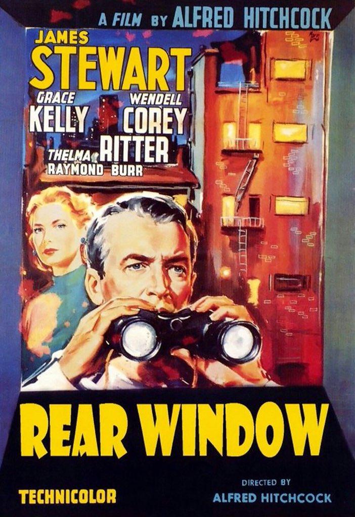 Now watching:  #AlfredHitchcock #RearWindow #film pic.twitter.com/rJP6HAVTPm