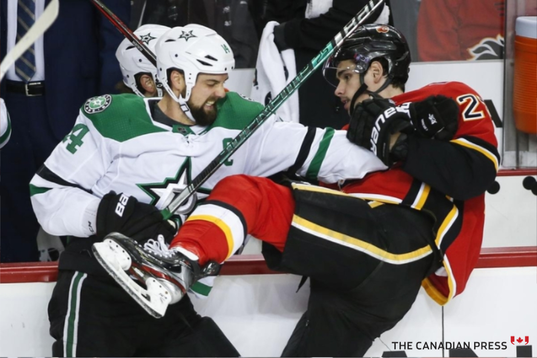 Old pest versus new pest just one storyline of @NHLFlames @DallasStars first-round playoff series. My @CdnPressSports story and Jeff McIntosh photo. #NHL https://t.co/bfDwm27Am4 https://t.co/2g8Fpj3eOO