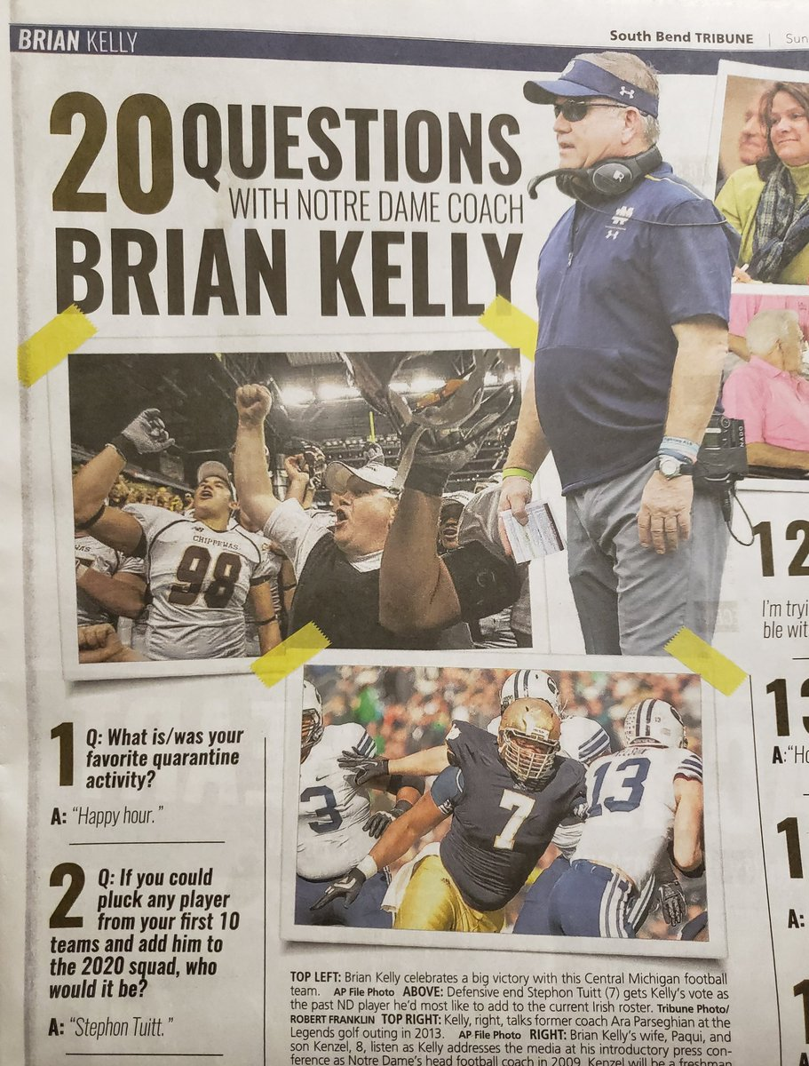 In case anyone doubted that @CoachBrianKelly is a Notre Dame man through and through... ☘️
