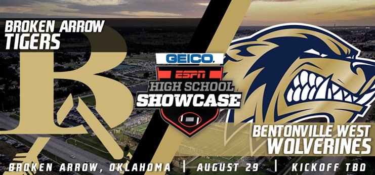What a huge opportunity for @BVille_West_FB Our first game will be live on ESPN @ Broken Arrow!  #FAST & #FOCUS pic.twitter.com/OiJAiDGw1l