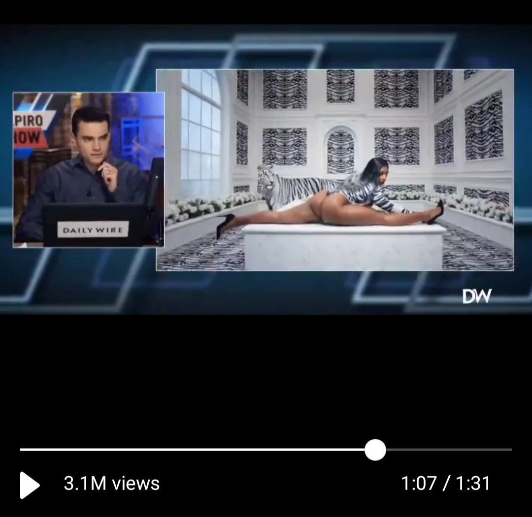Check out this vid. I love how @benshapiro takes a pause to take in the beauty that's on the screen. Here's a snapshot. 😆😆 #WAP https://t.co/wYyAIjrPzf