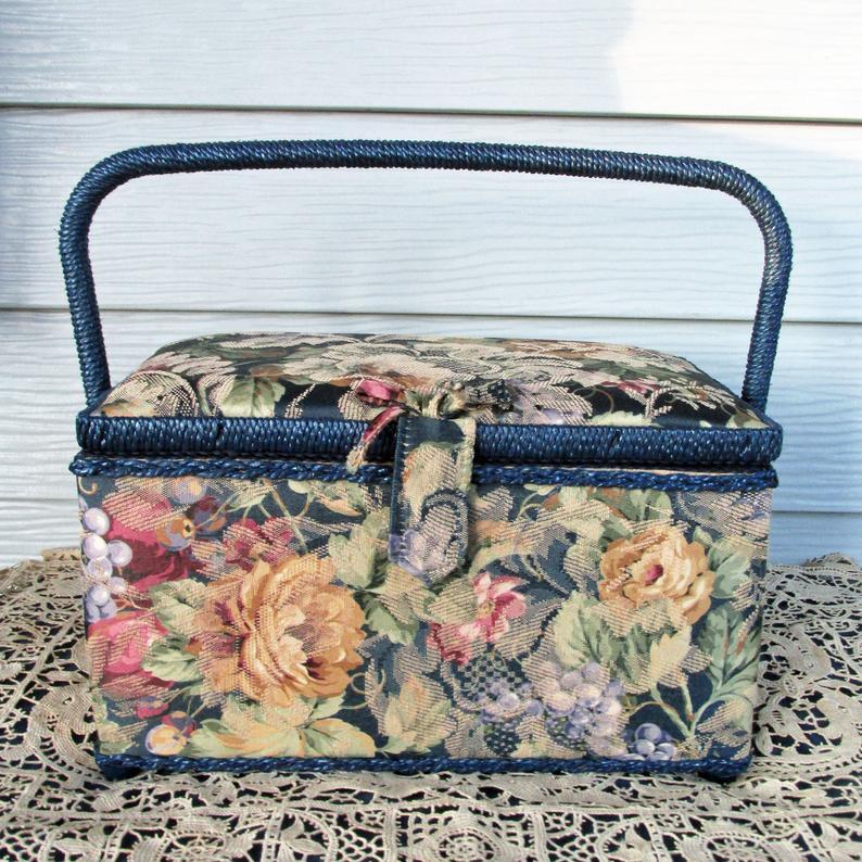 Navy Floral StorageBox https://etsy.me/2P97oK1pic.twitter.com/5ZvK8xy4s1