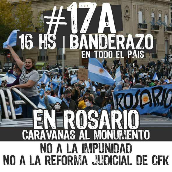 #17AHacemosHistoria que no falte nadie! #17AOcupemosLasCalles  #17ANosVeranVolver #17ABanderazoPorLaLibertad #17aNoALaReformaJudicial  tengamos en cta: aniquilamiento d la clase pasiva, destrucción d pymes, intento d impunidad-k,  avances sobre el agro, vicentín. #LaResistencia https://t.co/1Ub8HJyNs9