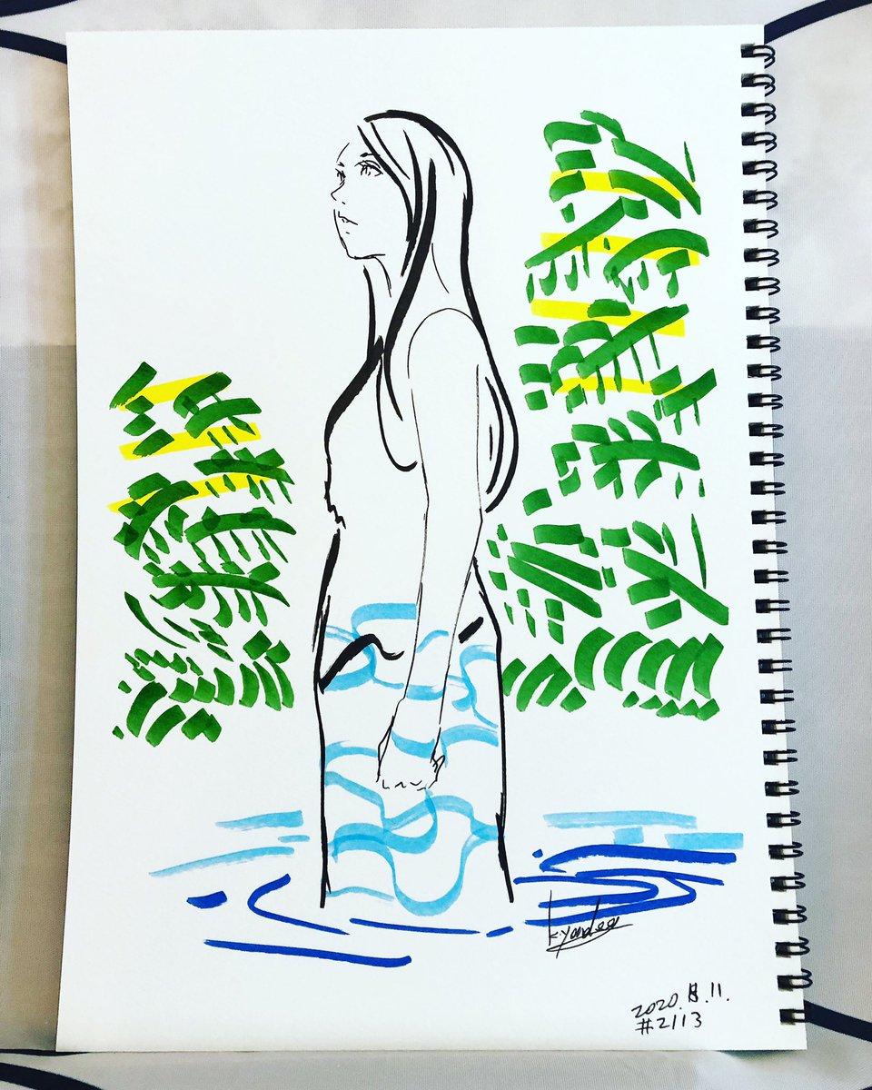 毎日絵 #2113 everyday drawing   前に立たせてたらしゃがんだ 次女(3)「うーんドン!」 急にジャンプしてパパの股間に命中。 次女ちゃんロケット Have a good day! 「とんでけー」  #毎日 #絵 #お絵描き #illustration #イラスト #dailysketch #sketch #girl #スケッチ #drawingpic.twitter.com/BDZWH9fgBA
