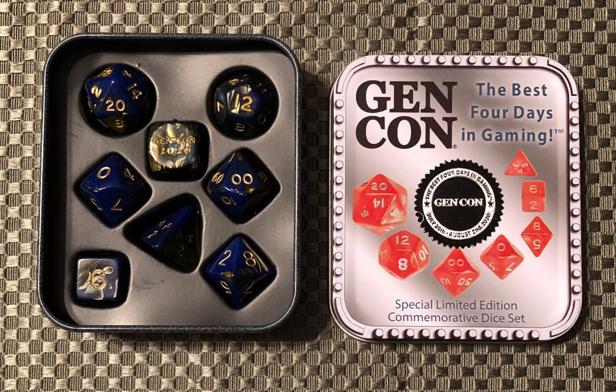 Commemorating the convention that didn't happen. Sadly, one of far too many.   #GenCon2020 #Dice https://t.co/ZV5v6nj3RI