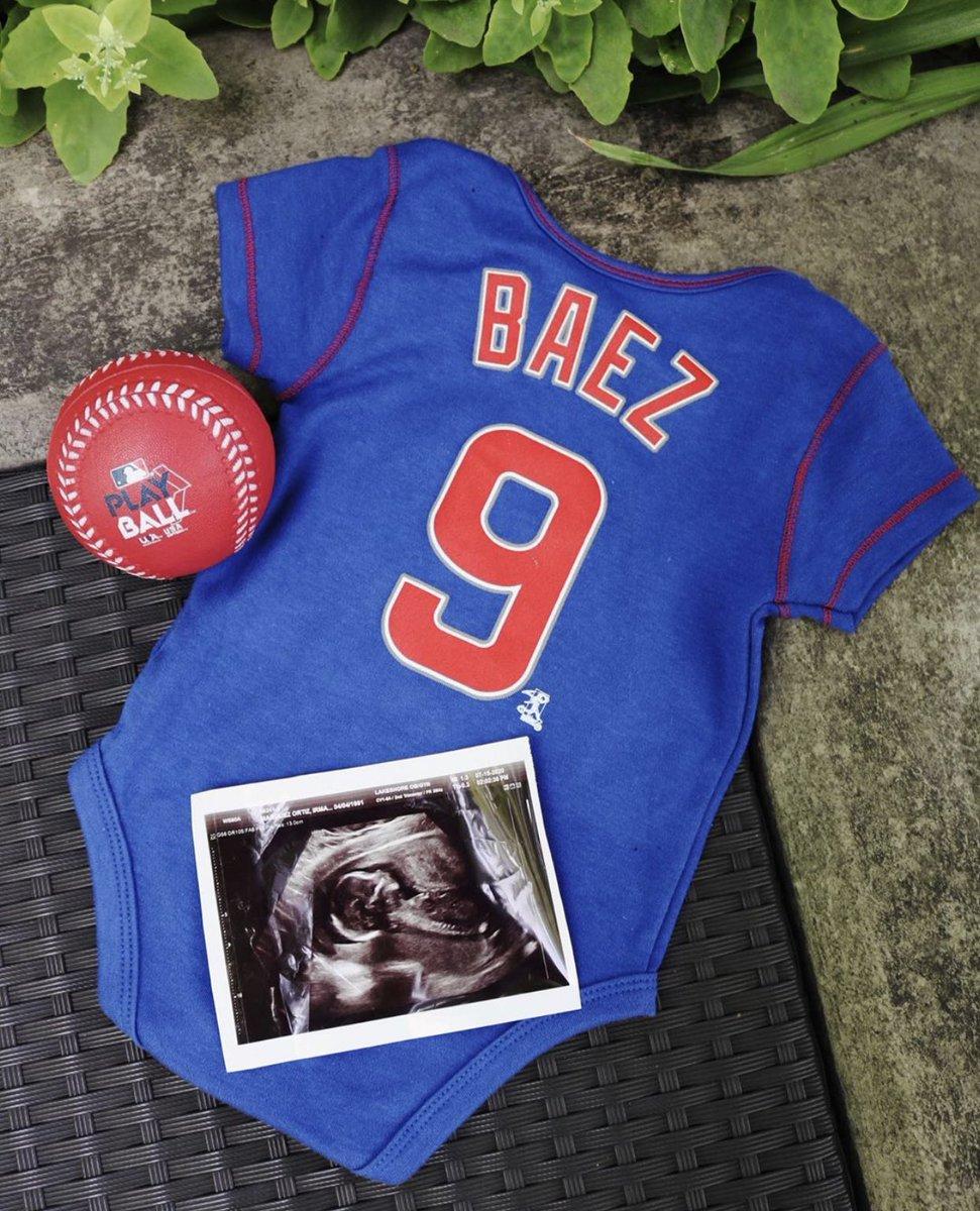 Congrats to the Báez family! #BabyBáez2