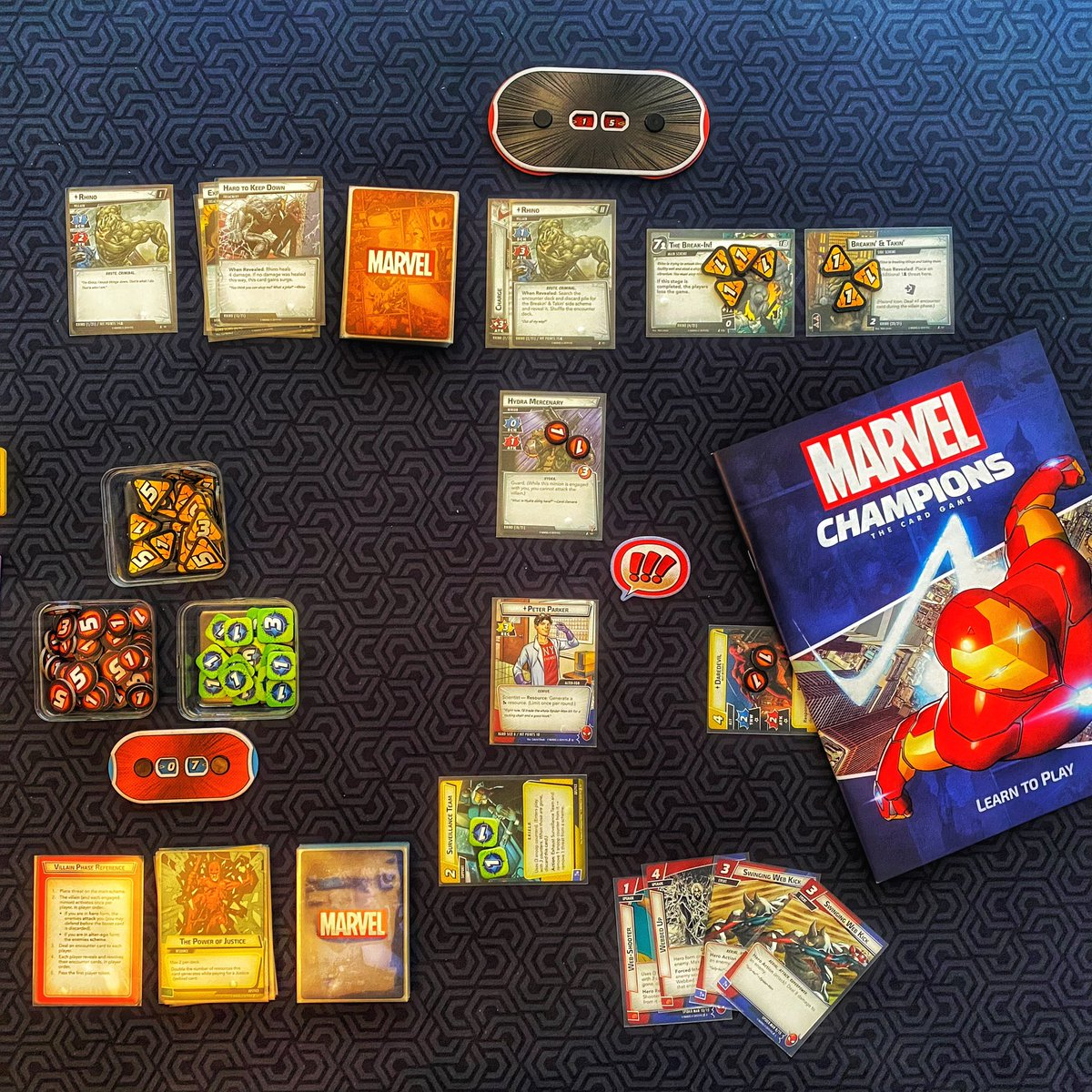 Today I got Marvel Champions to the table for the first time. This is an awesome game. No regret going all in, within a week of first purchase.  @FFGames #boardgame #boardgames #cardgame #lcg #marvel #marvelchampionspic.twitter.com/FmrN8GzmfR