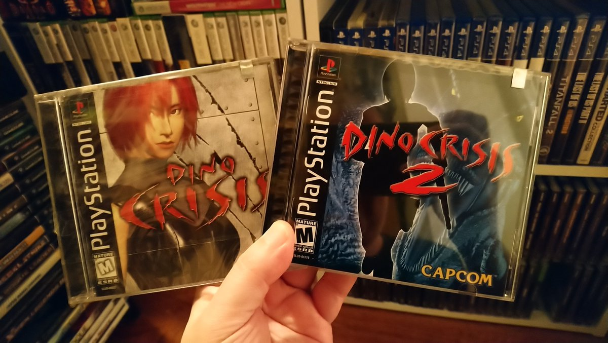 What's that? It's #PS1Day? From the more pricier side of my #PlayStation collection. My minty fresh copies of Dino Crisis 1 and 2. #PS1 #DinoCrisis #PlayStationPlus #PS5 #retrogames #retrogaming #GamersUnite #GamerNation #SurvivalHorror #ShowAndTellpic.twitter.com/rv8TC7dteV