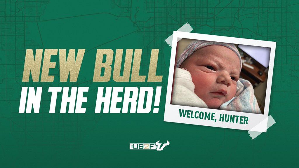 RT @USFFootball: Congratulations, @coach_jeffscott & Sara!  Welcome to the Herd, Hunter🤘  #US2F🤘 https://t.co/Ny2imErcxG