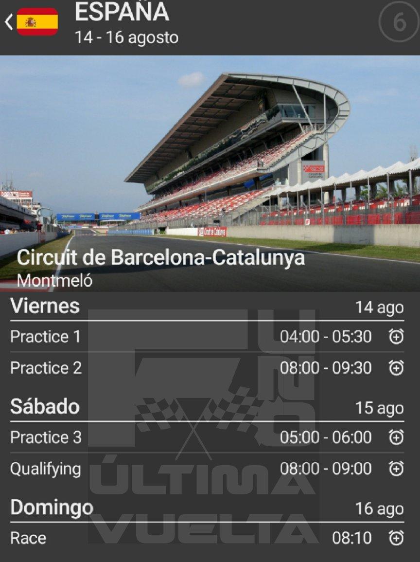 Estos son los horarios del Gran Premio de España #SpanishGP para que no te pierdas de nada. (Hora centro de México) @omarketingf1 @HablandodeF1Mx @TavoMotta https://t.co/uzPww5WmTC