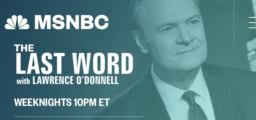 Joining @Lawrence tonight on @MSNBC at 10:10 ET to talk about Trump's latest lawlessness. It's a long list.