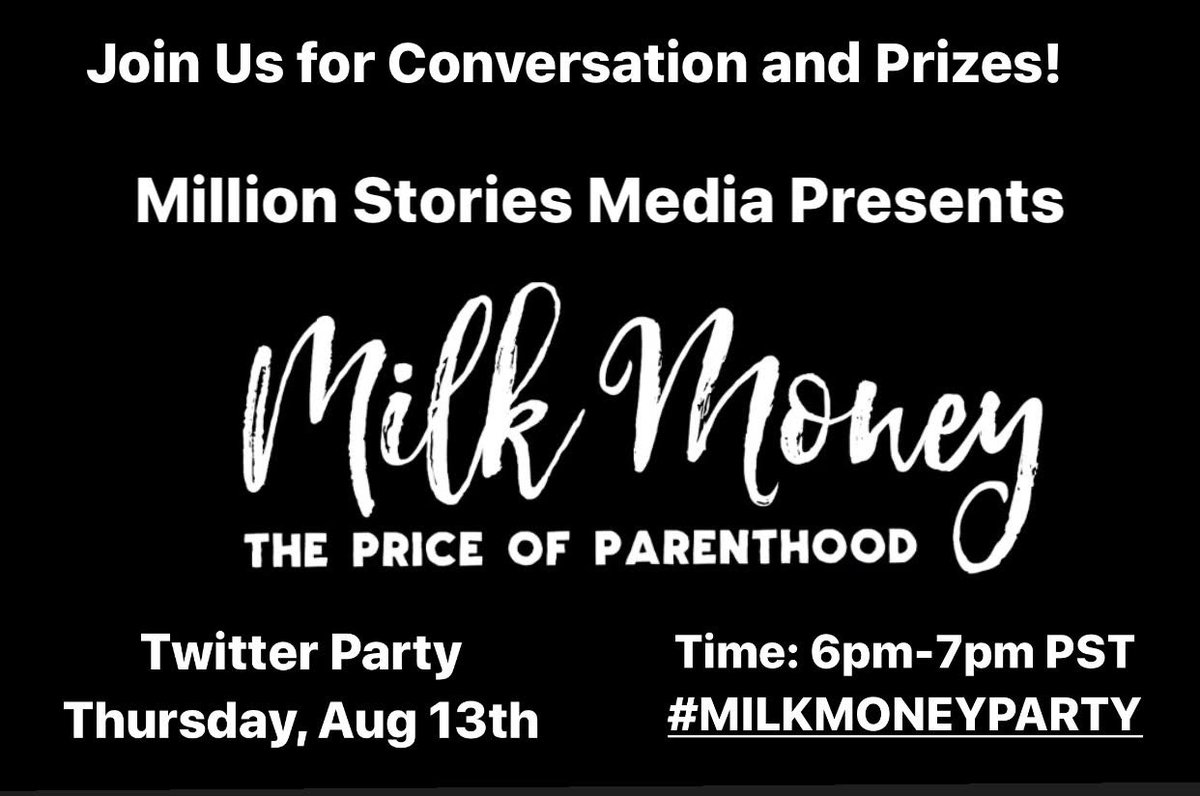 Join in for the #milkmoneyparty 8/13 #ad #twitterparty https://t.co/yJklOnytXC