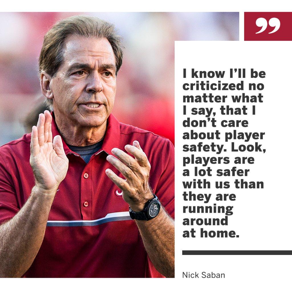 Nick Saban weighs in on the 2020 college football season. es.pn/3ixCXJH