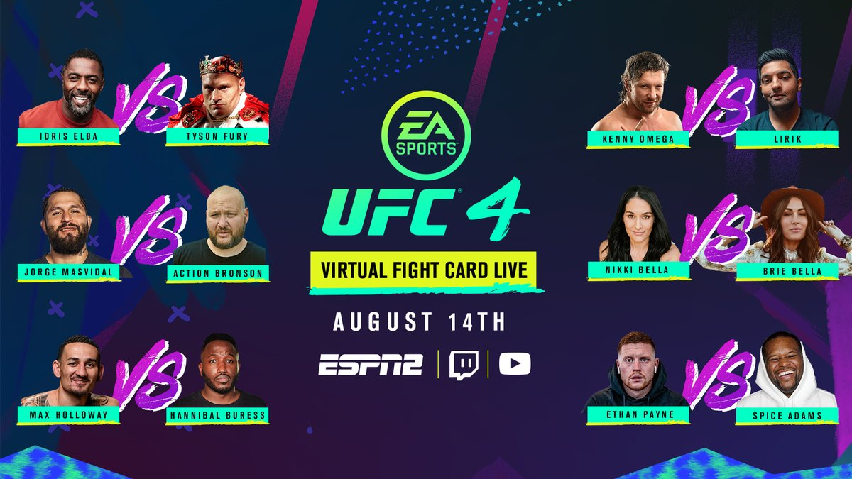 This card is elite - make sure you're tuned in Friday night! 🍿  📺 7:30pmET LIVE on ESPN2 PLUS the UFC's Twitch & YouTube channels. https://t.co/yGZ5xlM5XI