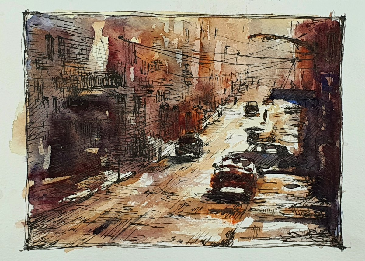 Afternoon pen drawing In today's live, I've painted an afternoon street with pen & wash. It was a fascinating street. ⠀ [YouTube] https://youtu.be/h-vk04XzuW4 ⠀ #drawing #dailydrawing #dailysketch #pendrawing #fountainpendrawing #preppy #street #afternoon #traveldrawing #drawingtalkpic.twitter.com/uoD0bXKDeK