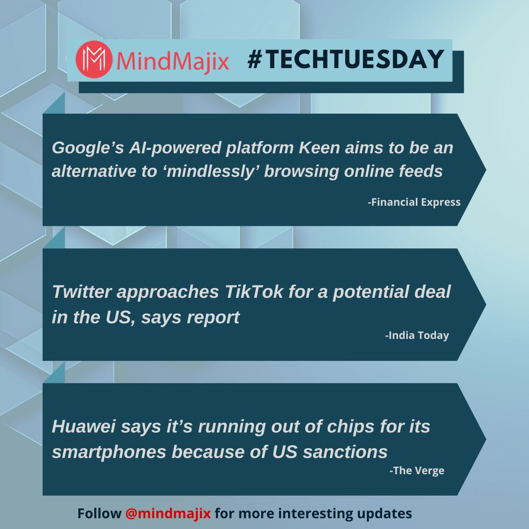 Top 3 #technews of the week by mindmajix  #techtuesday #tuesdayvibes #tuesdaythoughts #IT #softwareengineer #mindmajixpic.twitter.com/igVeLn9OeL