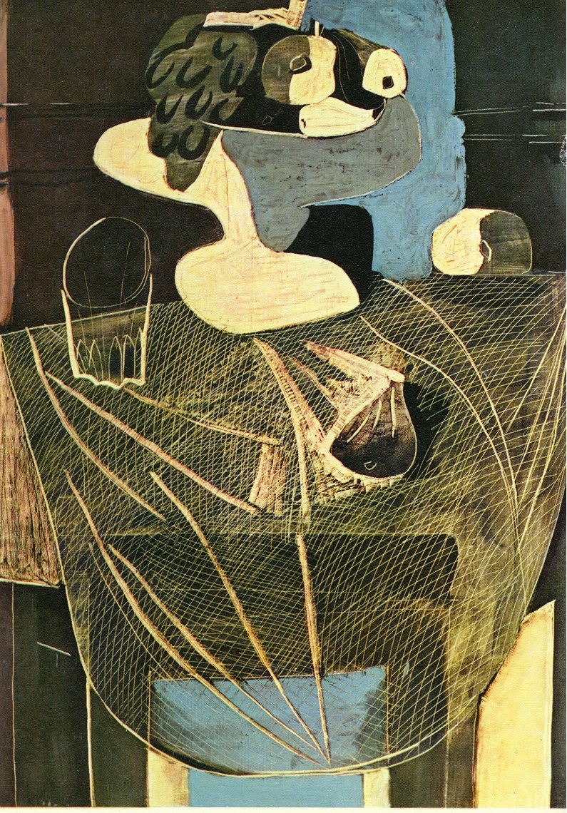Still life with fishing net, 1925 #pablopicasso #surrealism
