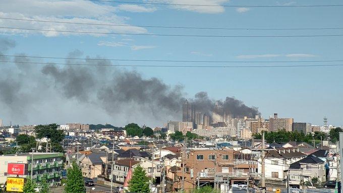 所沢市元町の建物火災の画像