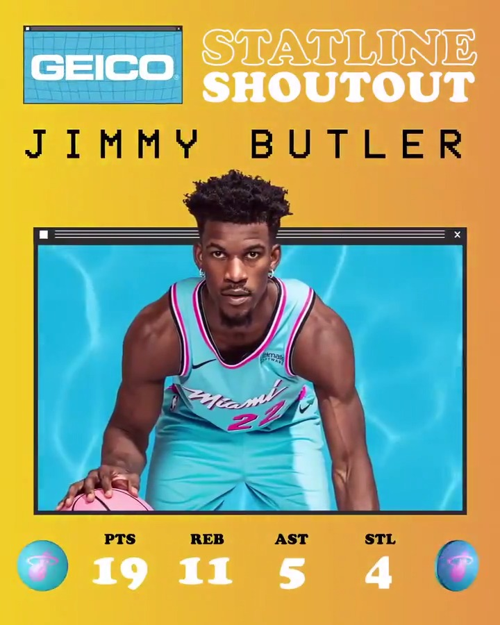 Complete game.  @JimmyButler is well deserving of our @GEICO Statline Shoutout tonight. https://t.co/iqk3wObmnA