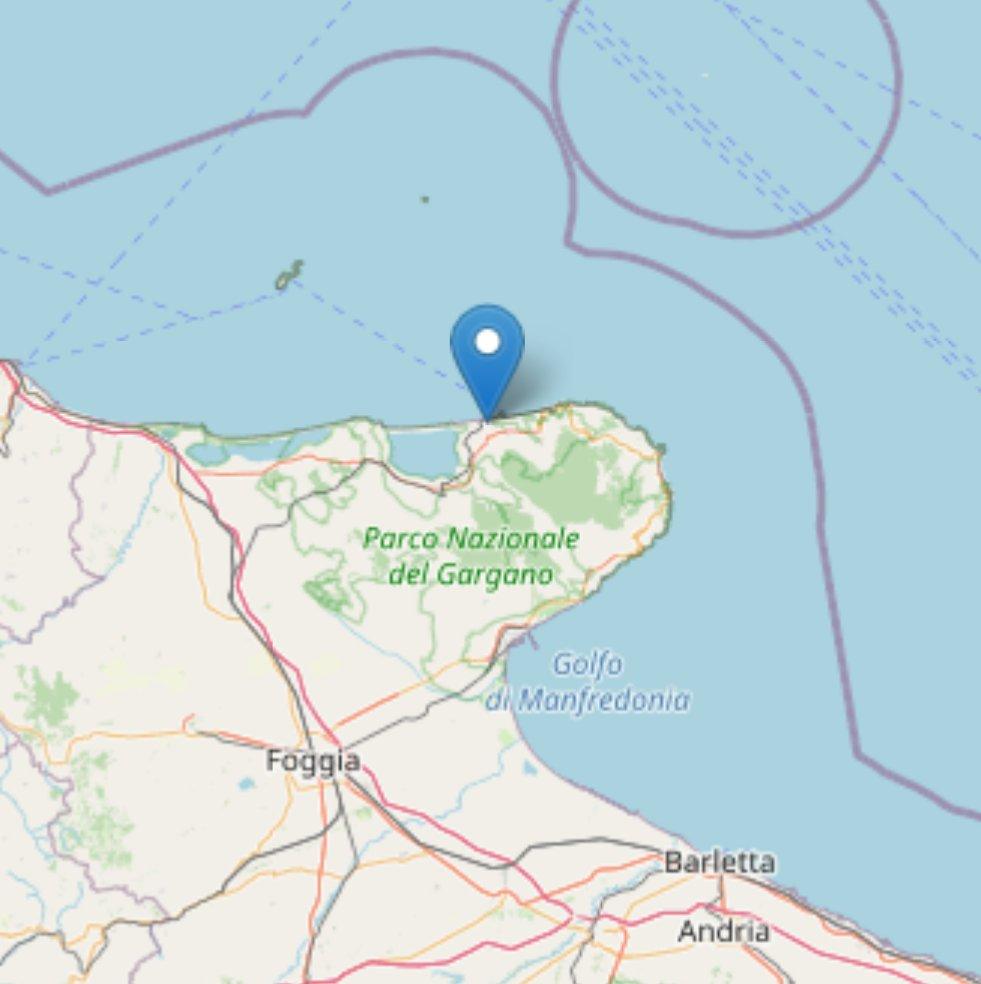#Terremoto: magnitudo 3,7 alle 3,36. Epicentro in Calabria, ad Aprigliano (#Cosenza). Lieve scossa in #Puglia alle 4,16. Epicentro a Rodi Garganico (#Foggia): magnitudo 2,4 (immagine: fonte @INGVterremoti )pic.twitter.com/oe3RDusANd