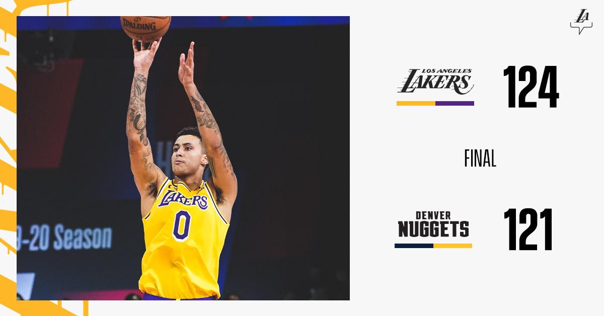 Bubble Kuz. Clutch as they come. #LakersWin https://t.co/Weo1jVzy0i
