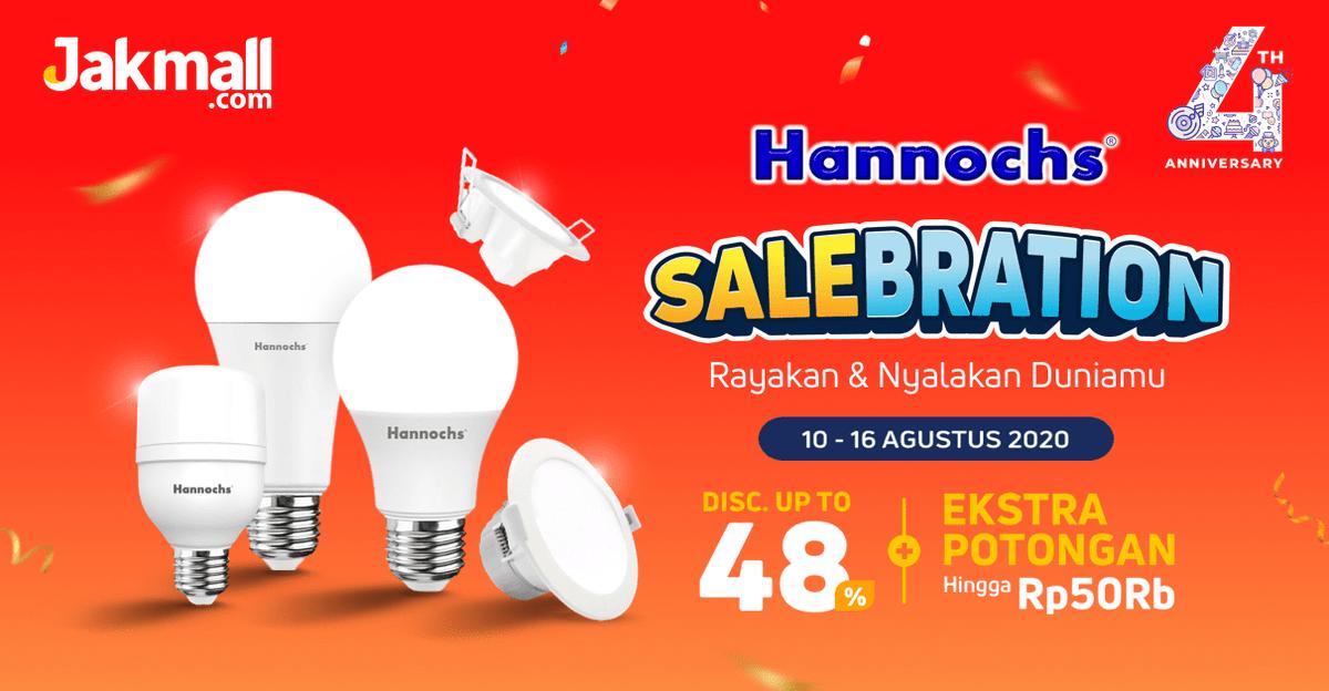 Terangi rumah dengan lampu dari #Hannochs, mumpung ada diskon hingga 48% + Extra Potongan Hingga Rp50Rb! Promonya cuma dari 10-16 Agustus 2020. Cepetan belanja di #Jakmall sekarang 🛒✨  Kunjungi 👉